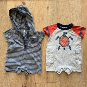 Tea Collection baby boy rompers